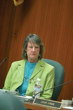 """NOT BUYING IT:  City Councilwoman Christine Mulholland dismisses Romero's stance as a scare tactic: """"It's like saying we've got to shoot ourselves in the foot, otherwise the county will shoot us in the foot. So we have to do it first."""" - CHRISTOPHER GARDNER"""