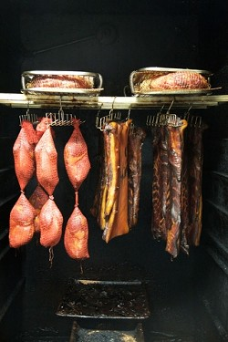 SMOKE EM IF YA GOT EM :  The smokehouse at Old Country Deli does meat the old fashioned way by hand, in small batches, using the best ingredients possible.