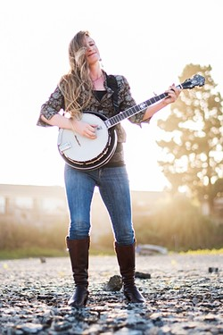 BANJO BABE:  Santa Margarita-based banjoist and songstress Erin Inglish plays a free Tooth & Nail Winery concert on July 22. - PHOTO COURTESY OF ERIN INGLISH