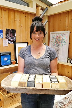 MISS CLEAN:  Jeriel Sydney, of Morro Bay, started making goat milk soap while living in Oakland several years ago. She now sells it under the label Fable Soap Co. - PHOTO BY DYLAN HONEA-BAUMANN