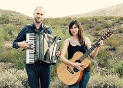 SONGSMITHS:  Seattle singer-songwriter Jaspar Lepak and her husband, Kale, play a Songwriters at Play showcase at the Otter Rock Cafe on April 25. - PHOTO COURTESY OF THE JASPAR LEPAK DUO