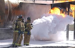 CONTAMINATION:  Thousands of gallons of chemical foam has been used by the military to train soldiers to fight fires at military installations, including those located in SLO and Santa Barbara counties. Now, the EPA worries that the practice caused possibly harmful chemicals to leach into the soil and groundwater. - PHOTO COURTESY OF THE U.S. DEPARTMENT OF DEFENSE