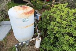 WHATS IN SLO'S WATER :  The recent discovery of the chemical TCE in other SLO wells has area residents wondering just what is in the water in their holding tanks. - PHOTO BY DYLAN HONEA-BAUMANN