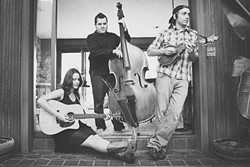 HARMONY TIME:  Folk and bluegrass trio The Salty Suites play May 11, for the Wine-Down Wednesday series at Sculpterra Winery. - PHOTO COURTESY OF THE SALTY SUITES
