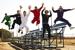 ARRIBA:  LA's amazing Latin, hip-hop, and rock act Ozomatli plays the fifth annual Avila Beach Tequila Festival at the Avila Beach Resort on May 28. - PHOTO BY CHRISTIAN LANTRY