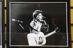 JUST A MORTAL WITH THE POTENTIAL OF SUPERMAN:  Shell Beach local Glen Blosser was lucky enough to shoot photos of David Bowie in Santa Monica in 1972. It was one of Bowie's first U.S. concerts. - PHOTO BY DYLAN HONEA-BAUMANN