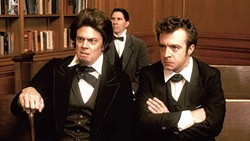 'CHARLESTON':  In this episode, Preston Brooks (Johnny Knoxville, left foreground) canes Charles Sumner (played by Patton Oswald, not pictured) for speech that slights Brooks' cousin and home state. - PHOTO COURTESY OF COMEDY CENTRAL
