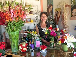 FOR THE LOVE OF FLOWERS:  Giorgia Nicholas opened her new flower shop, That's Amore, in Grover Beach on March 1. - PHOTO COURTESY OF GIORGIA NICHOLAS