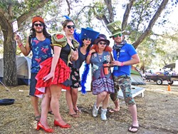 LIVE OAKIES :  A group of festival attendees got into the spirit of the Alice in Wonderland theme. - PHOTO BY GLEN STARKEY