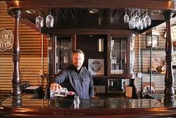 BARKEEP:  KROBĀR Craft Distillery co-owner Stephen Kroener mans the tasting room, nestled behind Grey Wolf Wines. - PHOTO BY DYLAN HONEA-BAUMANN