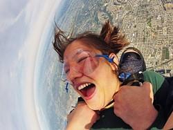 A BIRD'S EYE VIEW:  Tatiana Vine jumps from 10,000 feet with Skydive Pismo Beach. - PHOTO COURTESY OF TATIANA VINE