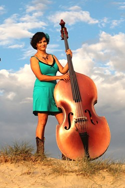 NEW MUSE:  Over the years, artist and musician (bass player for Fox and Rice) Colleen Gnos has gone through phases where she's favored politics, the ocean, and music as her muse. - PHOTO COURTESY OF COLLEEN GNOS