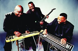CAMPBELLS DO COLTRANE:  Slide guitar gospel kings The Campbell Brothers take on John Coltrane's seminal album A Love Supreme on April 16, in Cal Poly's Spanos Theatre. - PHOTO COURTESY OF THE CAMPBELL BROTHERS