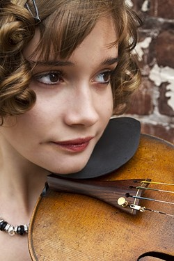 FRESH VIOLIN:  Pamela Sheffler is one of two violinists joining Stanley Stern during a multi-media art and music experience on July 8, in the Los Osos Edward Jones offices. - PHOTO COURTESY OF PAMELA SHEFFLER