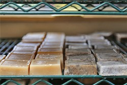 ALL STOCKED UP:  Fable Soap Co.'s bars are made from goat milk from Tomales Farmstead Creamery in Petaluma, Calif., and scented with natural essential oils. - PHOTO BY DYLAN HONEA-BAUMANN