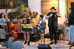 LOCAL AMERICANA:  The Foxx & Rice Band brings their folksy sounds to Frog and Peach on July 14. - PHOTO COURTESY OF THE FOXX & RICE BAND