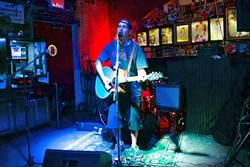 GUITAR'N'DRUM :  LA-based singer-songwriter Hart Bothwell will blend punk aesthetics, acoustic guitar, and electronic drums at Frog and Peach on June 8 and Shell Café on June 9. - PHOTO COURTESY OF HART BOTHWELL