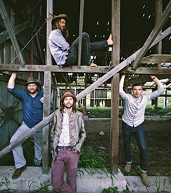 CAMPFIRE SOUNDS:  Moonshiner Collective headlines a three-band show at Fremont Theatre on April 22, in support of their excellent new album 'Consequential Campers.' - PHOTO COURTESY OF MOONSHINER COLLECTIVE