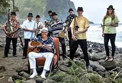 KINGS OF HAWAIIAN SWING:  Kahulanui will mix traditional Hawaiian and Big Band swing music on March 26, in Cal Poly's Spanos Theatre. - PHOTO COURTESY OF KAHULANUI