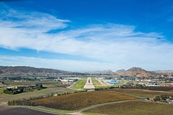 A MILITARY CONNECTION:  The SLO County Regional Airport was once used by the Army, Navy, and National Guard during World War II. That use may be connected to the recent discovery of contaminated groundwater in nearby private wells. - FILE PHOTO BY KAORI FUNAHASHI