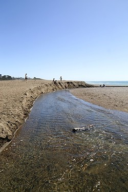CONNECTION:  Runoff from George Kendall's property on Santa Rosa Creek Road eventually ends up in the estuary on San Simeon State Beach and flows into the ocean. - PHOTO BY DYLAN HONEA-BAUMANN