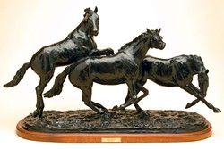 A HORSE OF A DIFFERENT KIND:  One of the editions of Pat Roberts' sculpture Equus in Flight sits in the home of a Spanish Countess, who spends part of the year in Santa Barbara. - PHOTO COURTESY OF PAT ROBERTS