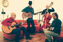 THE BOYS IN THE BAND:  The CC Riders—(left to right) Dorian Michael, Louie Ortega, Ken Hustad, and Kenny Blackwell—will bring their eclectic mix of blues, roots country/rockabilly, and Tex/Mex music to D'Anbino's on April 1. - PHOTO COURTESY OF THE CC RIDERS