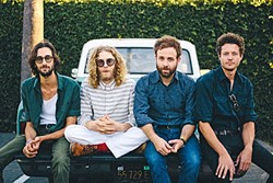 BAND ON THE RUN:  Dawes brings their literate, engaging alt-folk sounds to Fremont Theater on Jan. 13. - PHOTO BY MATT JACOBY