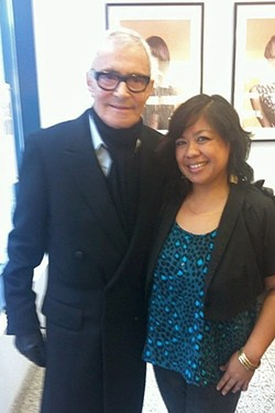 FASHION ICON:  Vidal Sassoon and Leila Vea Lewis in New York City. - PHOTO COURTESY OF LEILA VEA LEWIS