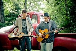 AMERICANA MASTERS:  Rob Ickes and Trey Hensley play two SLOfolks shows this week, Feb. 10 at Coalesce Bookstore; and Feb. 11 at Castoro Cellars. - PHOTO COURTESY OF ROB ICKES AND TREY HENSLEY