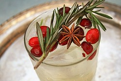 NEW RULE: WINTER MULE:  Root Elixirs' ginger soda mixed with ice, vodka, and a few holiday worthy accouterments are all you need to wow at your next holiday soiree. You can also get one made to order at the bar at Granada Hotel and Bistro in downtown SLO. - PHOTO BY HAYLEY THOMAS CAIN