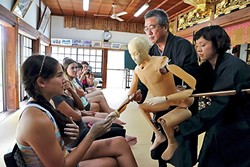 MASTER AND TEACHER:  Japanese puppeteer Kanroku and his company, Mokugu-sha, are on tour in the Bay Area to share the tradition of Bunraku performances. They are making a special stop in SLO on Nov. 2. - PHOTO COURTESY OF SLOMA