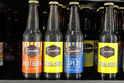"SUNSHINE IN A BOTTLE :  Crafted on the Central Coast with cane sugar and natural ingredients, Sunshine Bottle Works offers up a refreshing alternative to commercially produced soda pop. Could ""craft soda"" be the next ""craft beer""? - PHOTO BY JAYSON MELLOM"
