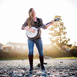 ANGEL ACTIVIST:  Singer-songwriter-banjoist Erin Inglish plays Last Stage West on Nov. 13, before leaving to bring supplies and support to the protesters at the Standing Rock Sioux Reservation. - PHOTO COURTESY OF ERIN INGLISH