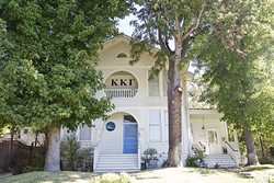 QUIET DOWN:  Complaints from a SLO resident about the Kappa Kappa Gamma sorority house on Osos Street raise questions about how Cal Poly Greek life meshes with residential neighborhoods. - PHOTO BY JAYSON MELLOM