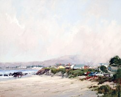 MEMORY LANE:  Elizabeth Tolley's piece 'Summer Morning Clearing of Cayucos' exhibited at SLOMA in 2015 as part of the Masters and Their Mentors show. - PHOTO COURTESY OF ELIZABETH TOLLEY