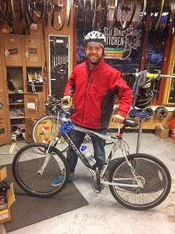 NEW RIDE :  Sean Ciders is a bike recipient of Bike SLO County's RideWell program, which provides free bikes to people in need. - PHOTO COURTESY OF BIKE SLO COUNTY