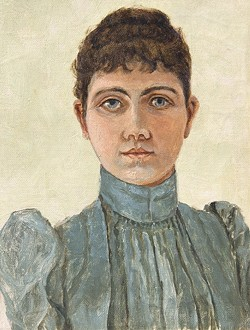 PORTAIT OF AN ARTIST:  In addition to drawing herself, 19th century artist Marie Ascension Dallidet also painted her family members. - PHOTO COURTESY OF THE SAN LUIS OBISPO MUSEUM OF ART