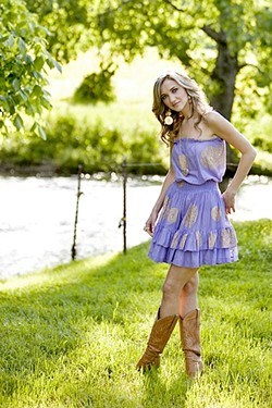 COUNTRY GAL:  Rising country chanteuse Sarah Darling plays Eberle Winery on March 24. - PHOTO COURTESY OF SARAH DARLING