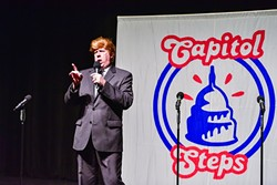 LET IT OUT :  The 2016 presidential race could be the craziest that Americans have experienced to date. That doesn't mean there isn't room for hearty belly laughter and the release of a little pent-up steam. The show Capitol Steps recently brought a chorus song, dance, and equal opportunity political bashing to Cal Poly, reminding us all to chuckle in the face of stress. - PHOTO COURTESY OF CAPITOL STEPS