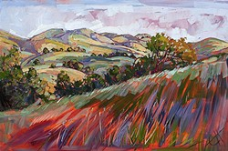 DARN NEAR PARADISE:  'Colors at Paso' is one of about 300 paintings of the area crafted by artist Erin Hanson over the past six years. - IMAGE COURTESY OF ERIN HANSON