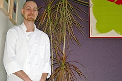 AROUND THE WORLD:  Café Fiero Chef Nathan Clapp traveled the world before settling in San Luis Obispo—and it shows in his cooking chops. - PHOTO BY HAYLEY THOMAS CAIN
