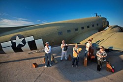 TAKE FLIGHT:  Awesome Gypsy jazz, swing, wild classical, tango, and folk act Café Musique plays D'Anbino on Nov. 25. - PHOTO COURTESY OF CAFÉ MUSIQUE