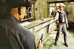 SHOT BOT :  Amusement park attendee Peter Martin (Richard Benjamin, right) faces down the robotic Gunslinger (Yul Brynner), in the 1973 film 'Westworld.' - PHOTO COURTESY OF METRO-GOLDWYN-MAYER