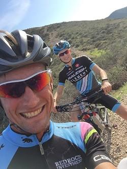 LIKE FATHER, LIKE SON:  Lance and Sean Haidet enjoy a ride at Montaña de Oro over Thanksgiving 2016. - PHOTO COURTESY OF JAANN HAIDET