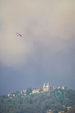 SMOKY SUMMER:  The Chimney Fire by Lake Nacimiento burned 49 homes and more than 46,000 acres of North San Luis Obispo County in August. - FILE PHOTO BY JAYSON MELLOM