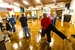 FITNESS AND FUN:  The SLO Senior Citizens Center is a nexus for local seniors to congregate and enjoy fitness and leisure activities. The center also hosts health screenings provided by Community Action Partnership of San Luis Obispo (CAPSLO). - PHOTO BY JAYSON MELLOM