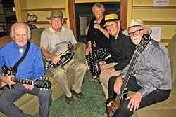 JAZZ PALS:  The Amigos Swing & Jazz Band plays the next Basin Street Regulars hot jazz concert on Nov. 20, in the Pismo Vets Hall. - PHOTO COURTESY OF THE AMIGOS SWING & JAZZ BAND