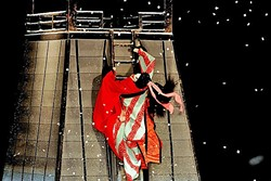 SEAMLESS CONTROL:  Three puppeteers steer one doll in Bunraku performances, working together to make each puppet move in detailed lifelike ways. The head puppet master is in control of the body, head, and right arm; one is in control of the legs or kimono (depending on whether the doll is male or female) and one controls the left arm. - PHOTO COURTESY OF SLOMA