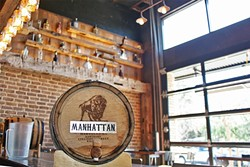 A BARREL WITH YOUR NAME ON IT:  Barrel-aged cocktails are flowing at Mason Bar. You can even snag your own exclusive barrel with your name on it (Yes, there's a current waiting list for that). - PHOTO BY HAYLEY THOMAS CAIN